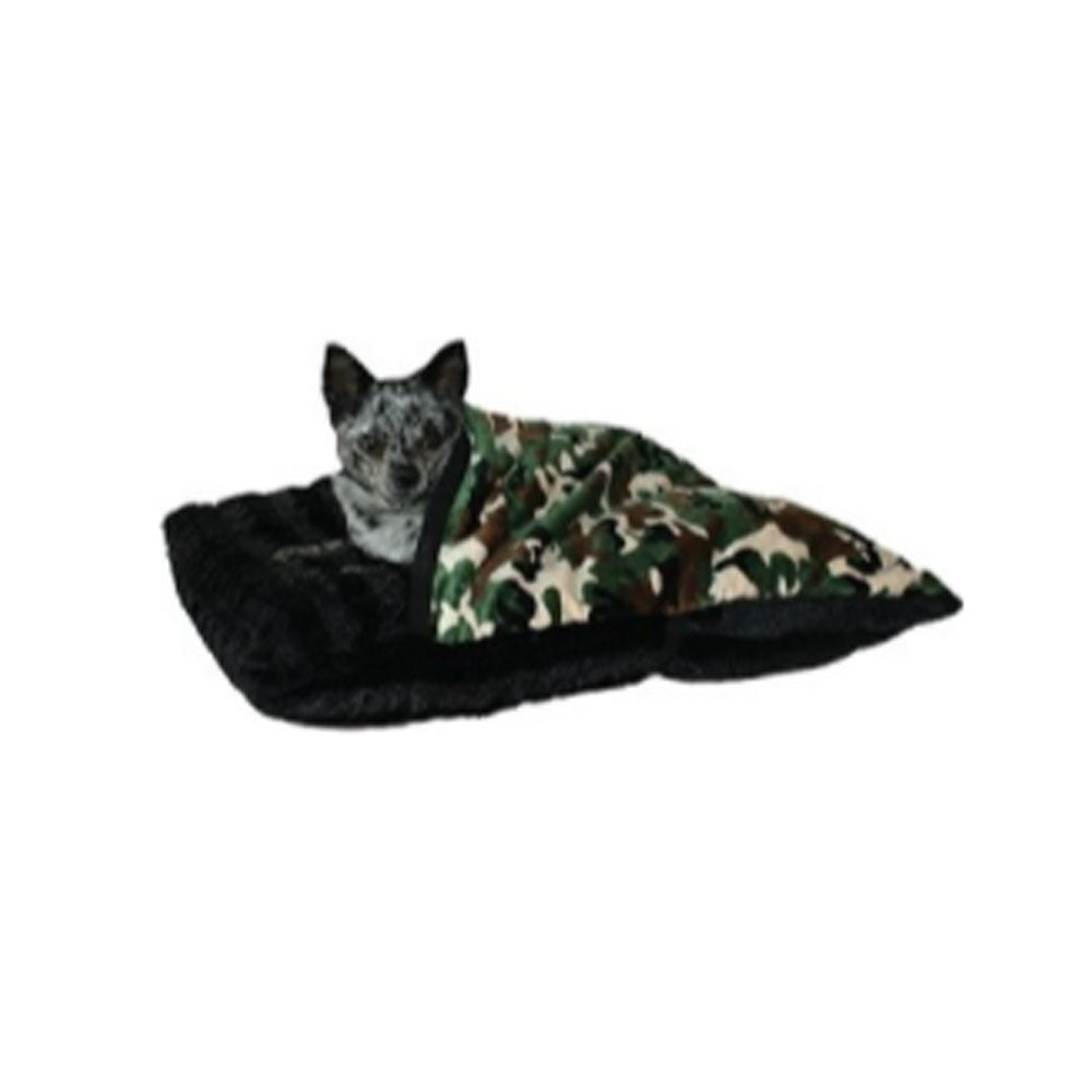 Army Camouflage Pet Pockets Bedding for Pets that Burrow