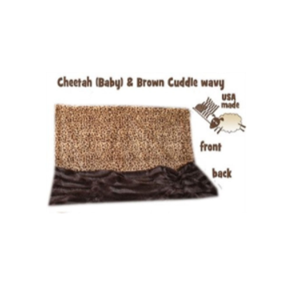 Brown Cheetah Big Baby Blanket
