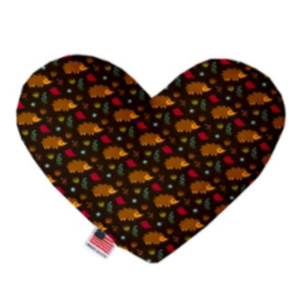 Hedgehogs 8 inch Canvas Heart Dog Toy