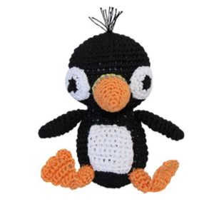 Knit Knacks Puffin Organic Cotton Small Dog Toy