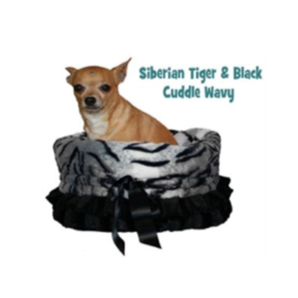 Siberian Tiger Reversible Snuggle Bugs Pet Bed, Bag, and Car Seat in One