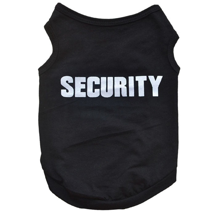 Security Printed Cotton T-Shirt