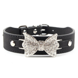 Crystal Bow Choker Necklace