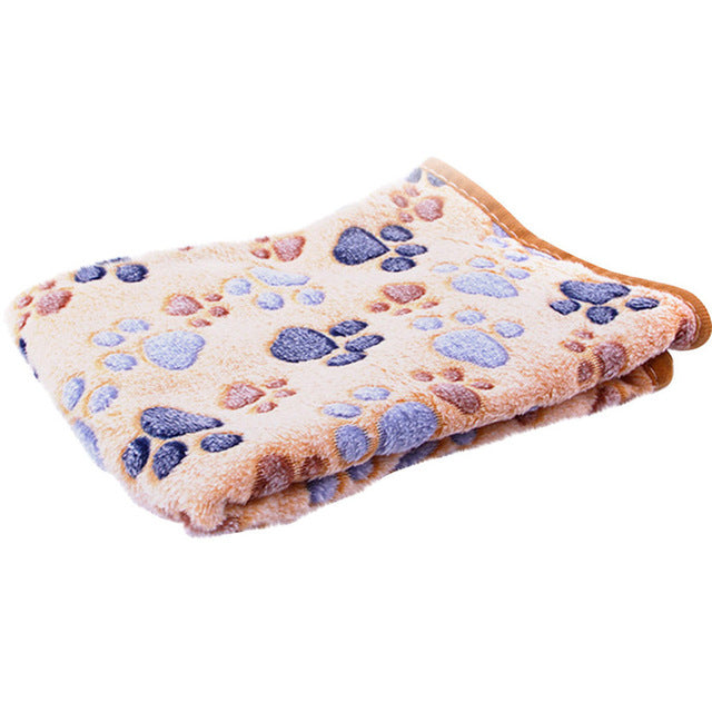Paw Print Soft Fleece Blanket