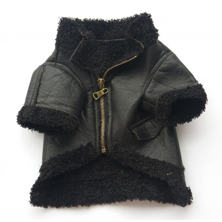 Leather Zipper Winter Jacket