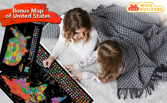 SCRATCH OFF WORLD MAP REVIEW - THE GREATEST GIFT THAT A TRAVELER CAN GET