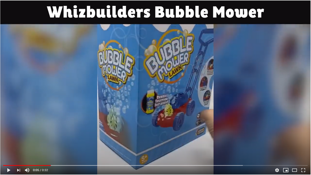 Whizbuilders Bubble Lawn Mower Unboxing