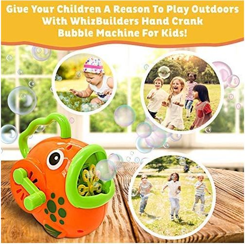 WhizBuilders Fish Bubble Machine for Toddlers