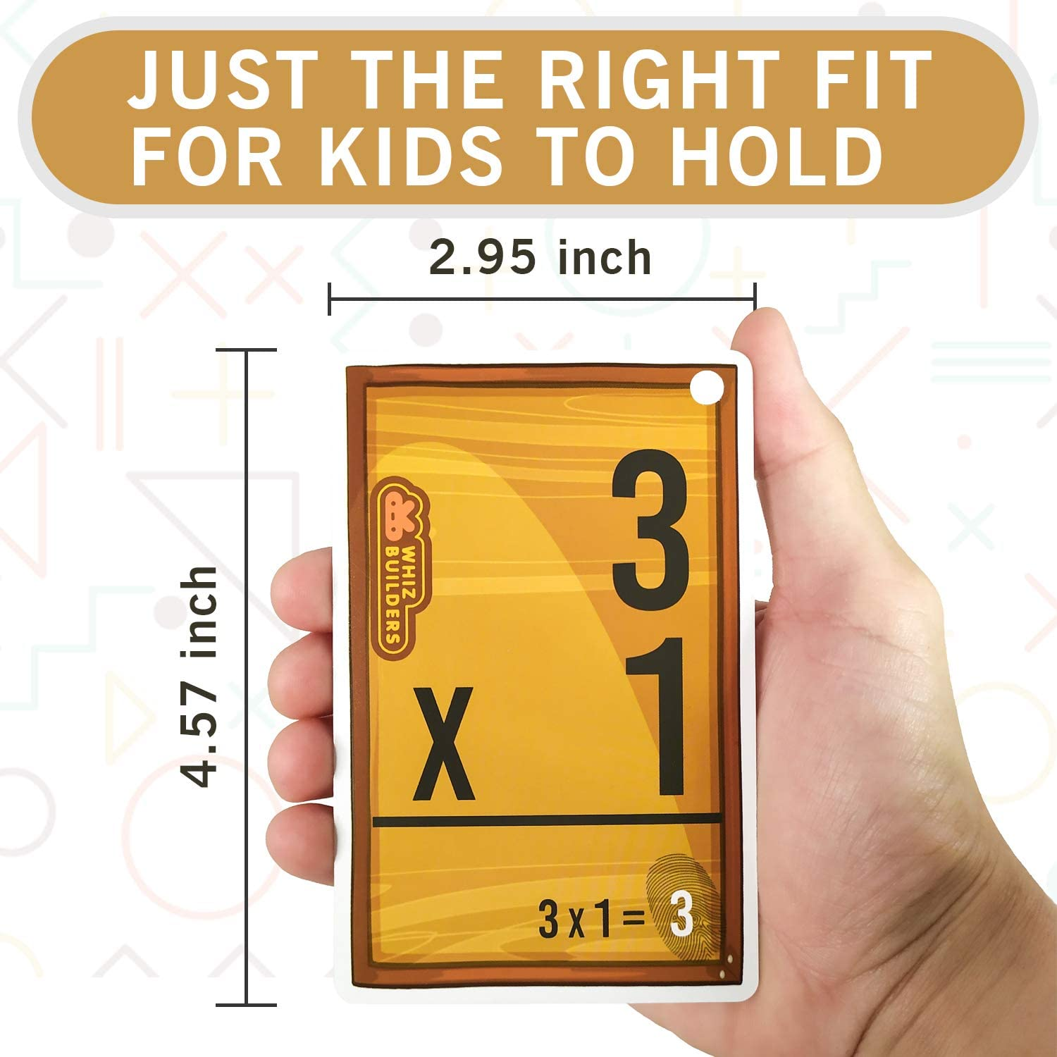WhizBuilders Math Flash Cards Set For Kids