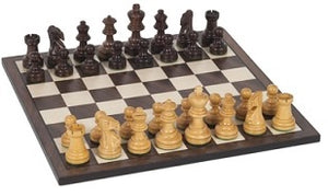 "Chess Set, 12"" Wood Staunton"