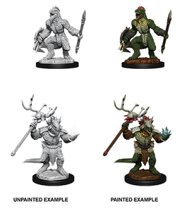 D&D Unpainted Mini: Lizardfolk and Shaman