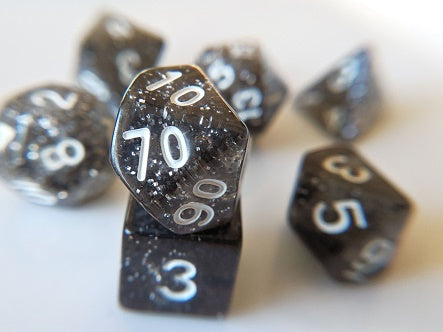 7 Die-Set: Glitter Black Dice