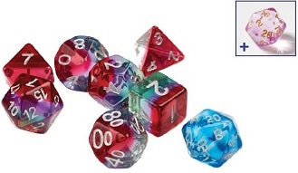 Sirius Dice 7 Die-Set: Semi-Translucent Watermelon