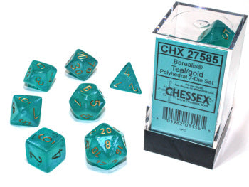 Borealis 7-Die Set: Teal/Gold Luminary