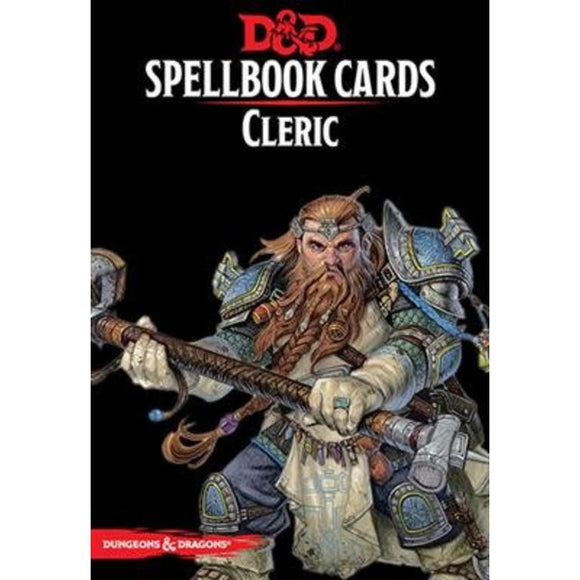 D&D Spellbook Cards Cleric 2nd Edition