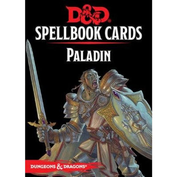 D&D Spellbook Cards Paladin 2nd Edition