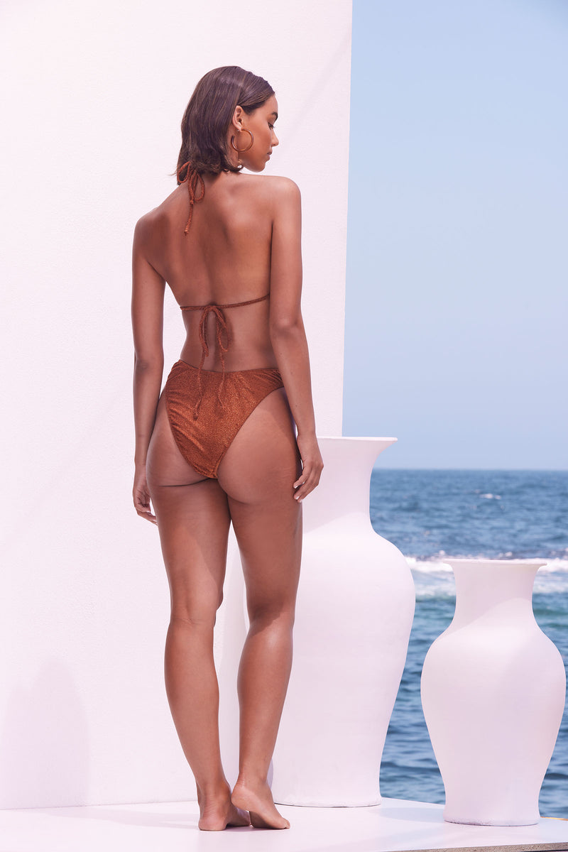 Zahara Set (Top & Skirt) - Bronze Shimmer