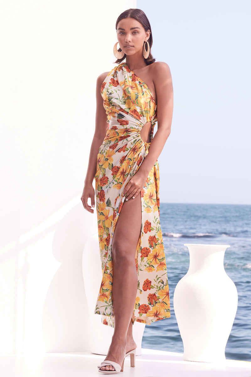 Nour Yarden Floral Dress - (PRE-ORDER) Estimated Delivery : APRIL 2021