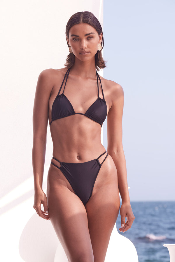 Clio Bikini Bottom - Classic Black  Estimated Delivery : Jan 30