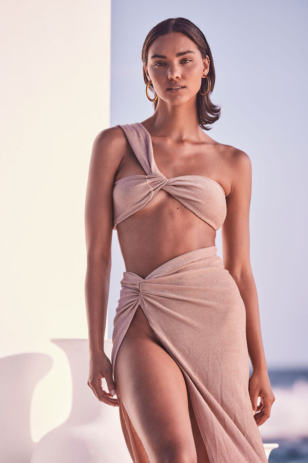 Petra Bikini Top - Sand Shimmer Estimated Delivery : Jan 30