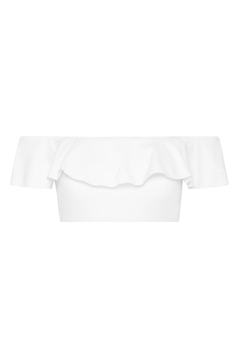 TUSCANY OFF THE SHOULDER TOP - WHITE