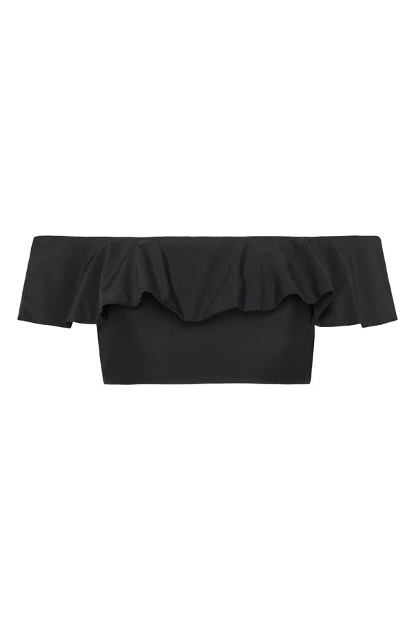 TUSCANY OFF THE SHOULDER TOP - NOIR