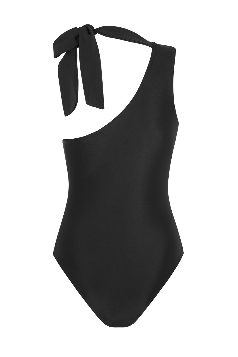 CAPRI ONE SHOULDER SWIMSUIT - NOIR