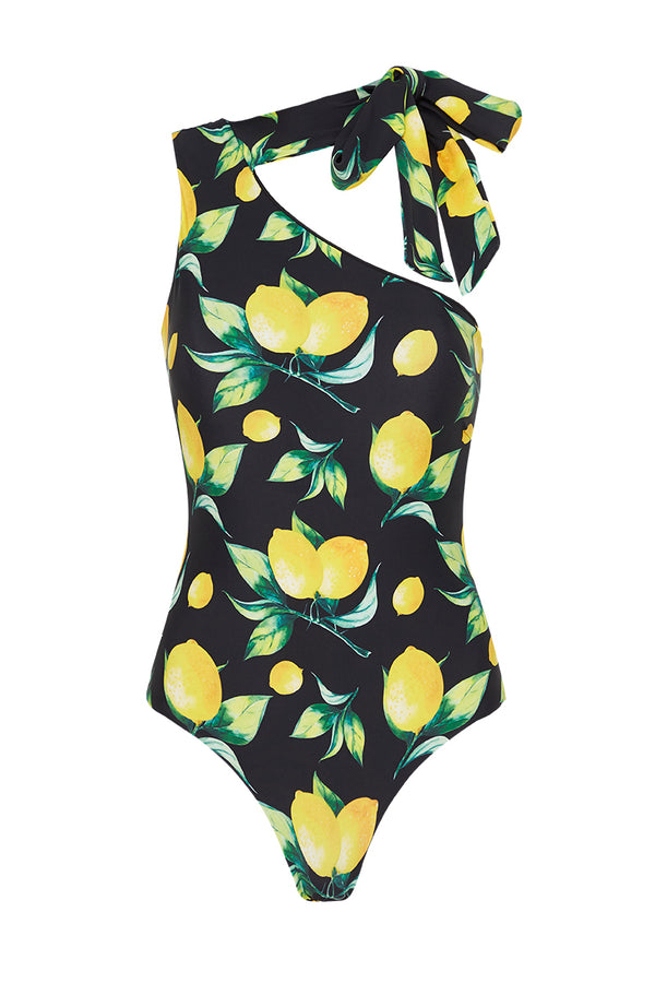 CAPRI ONE SHOULDER SWIMSUIT - LIMONE