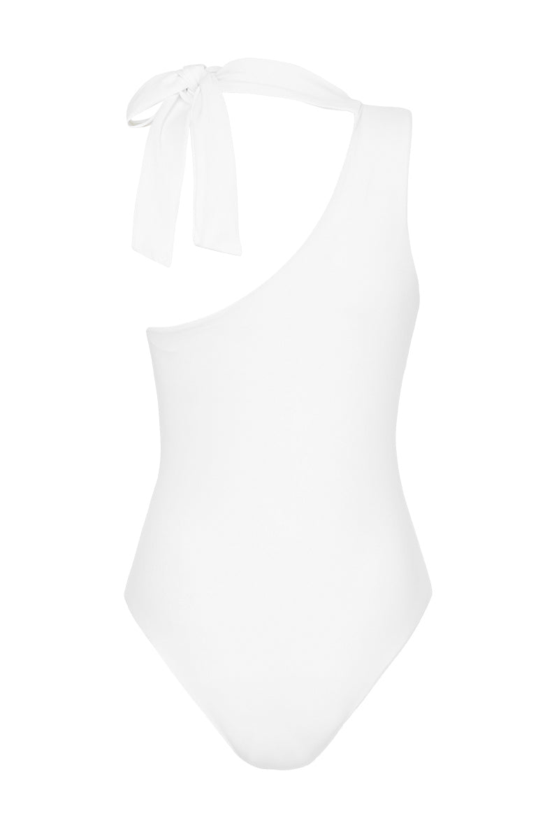 CAPRI ONE SHOULDER SWIMSUIT - WHITE