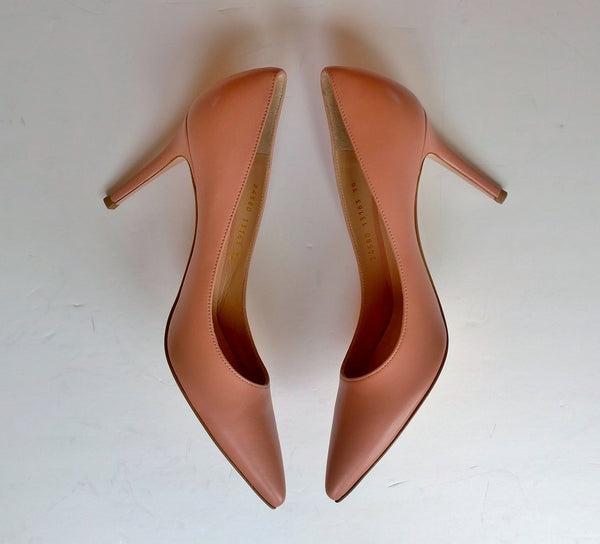 Gianvito Rossi Dahlia Dusty Pink 85 Leather Heels