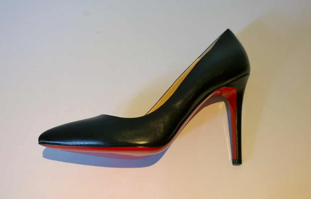 451dbc4f56ba Christian Louboutin Pigalle 100 Black Leather Heels Sale New Shoes ...