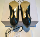 Paul Andrew Kimura Navy Leather Heels Sale Shoes Blue Courts Discount