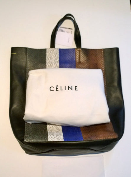 Celine Shopper Tote Python Black Leather Sale Purse Discount Bag