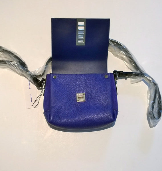 Proenza Schouler Elliot Crossbody Bag in Blue Leather and Suede