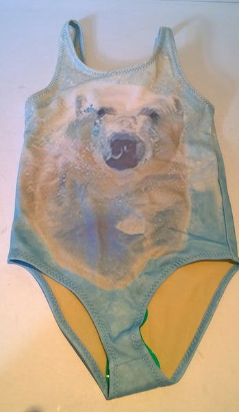 PopUpShop Polar Bear Swimsuit for Girls