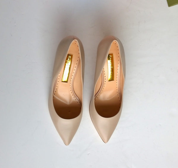 Rupert Sanderson New Pierre Nude Leather Heels