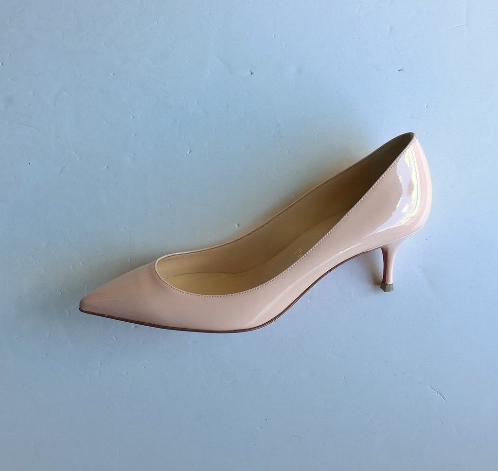 check out dbdc9 6e114 Christian Louboutin Pigalle Follies Pink Patent 55 Heels ...