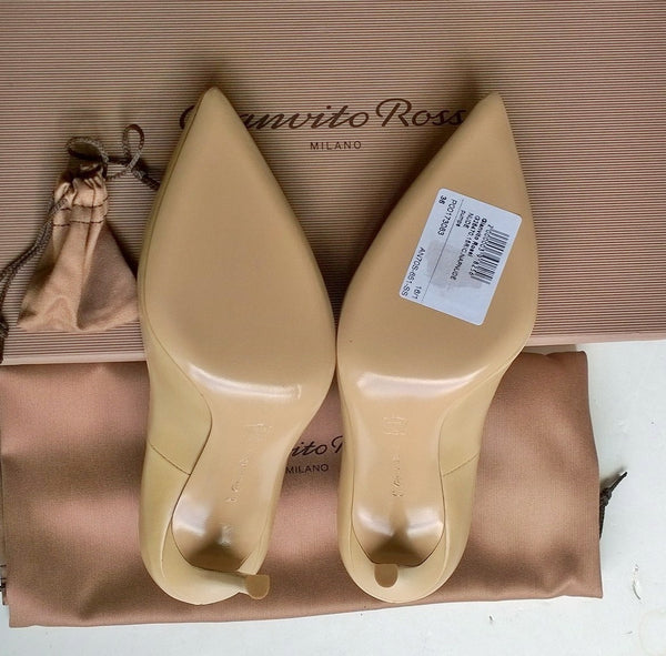 Gianvito Rossi Beige Nude Leather 105 Pumps Heels bari