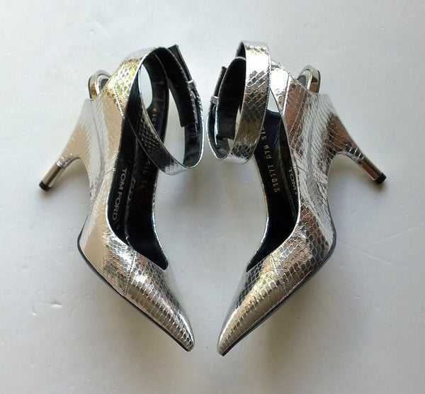 Tom Ford Silver Elaphe Heels