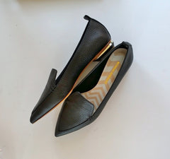 Nicholas Kirkwood Beya Black Leather Loafers flats shoes