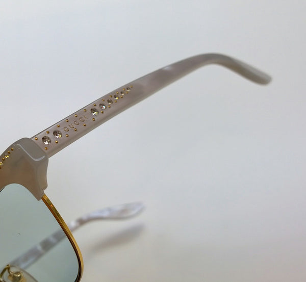 Gucci Mother of Pearl Rhinestone Sunglasses Shell Pixie