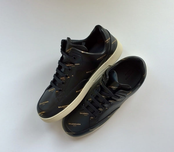 Balenciaga Base Sneakers in Black Leather logo sneakers new trainers