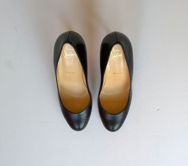 Christian Louboutin Simple 85 Black Nappa Leather Heels new shoes