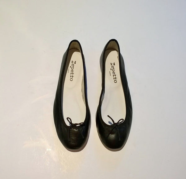 Repetto Black Leather Ballerina Flats BB Cendrillon Ballet Shoes