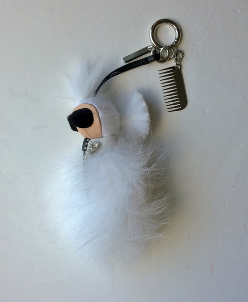 Fendi Mini Karlito Snow White with Silver Comb