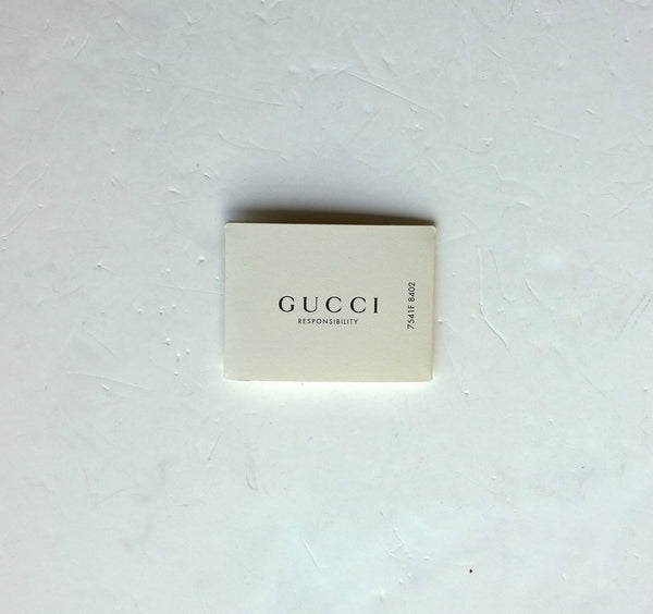 Gucci Leather and Canvas Pouch