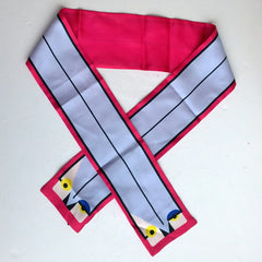 Fendi Monster Qutweet Birdie Silk Scarf in Pink Tie