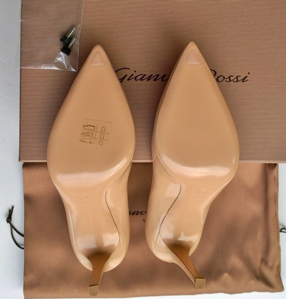 Gianvito Rossi Nude Patent 85 Heels Sale Shoes