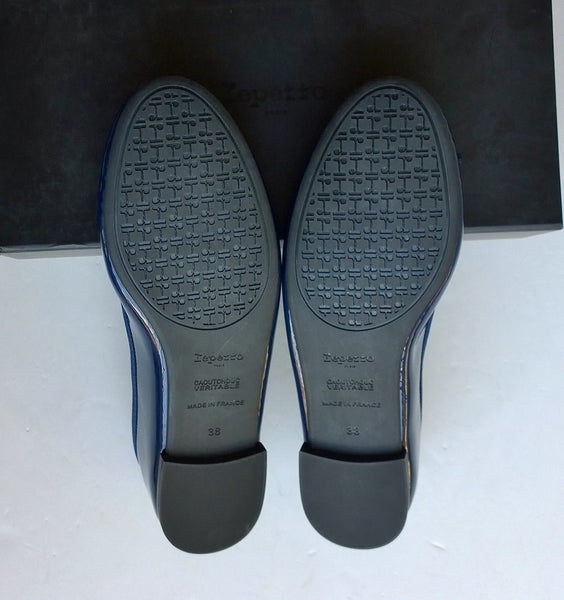 Repetto Classique Navy Patent Ballet Shoes with Rubber Soles Ballerina Pumps