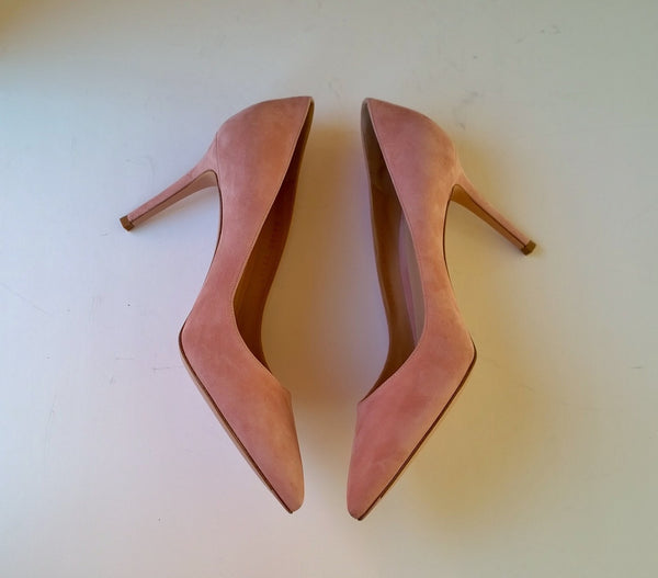 Gianvito Rossi dahlia dusty rose suede 85 heels new in box